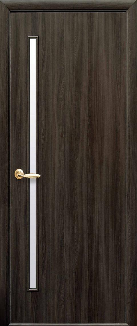 Двері міжкімнатні «Квадра» модель «Глорія» ПВХ Deluxe