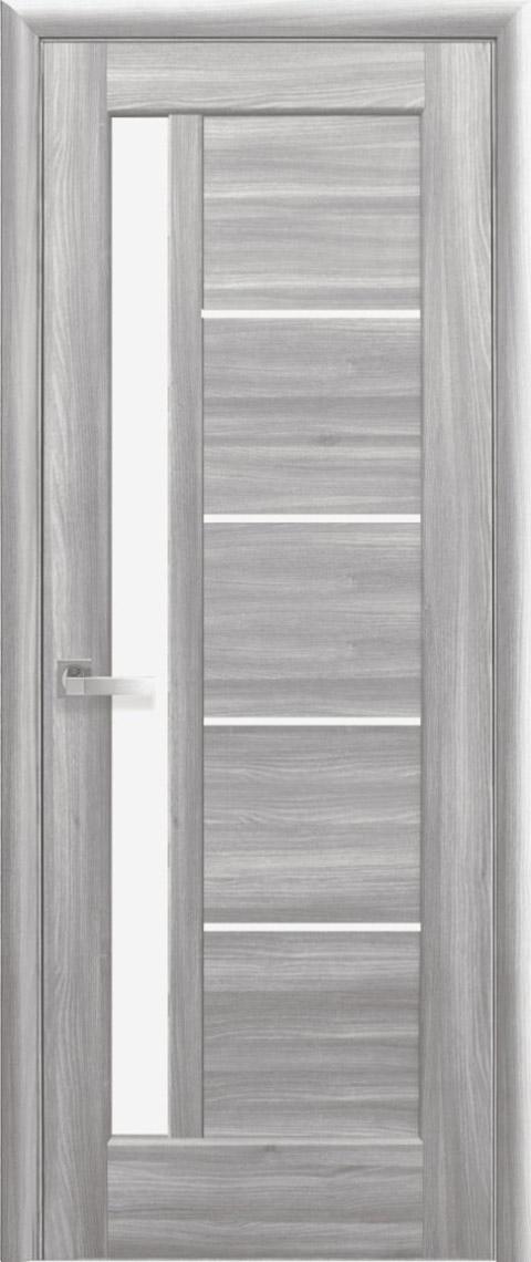 Двері міжкімнатні «Ностра» модель «Грета» Бук попелястий сатин